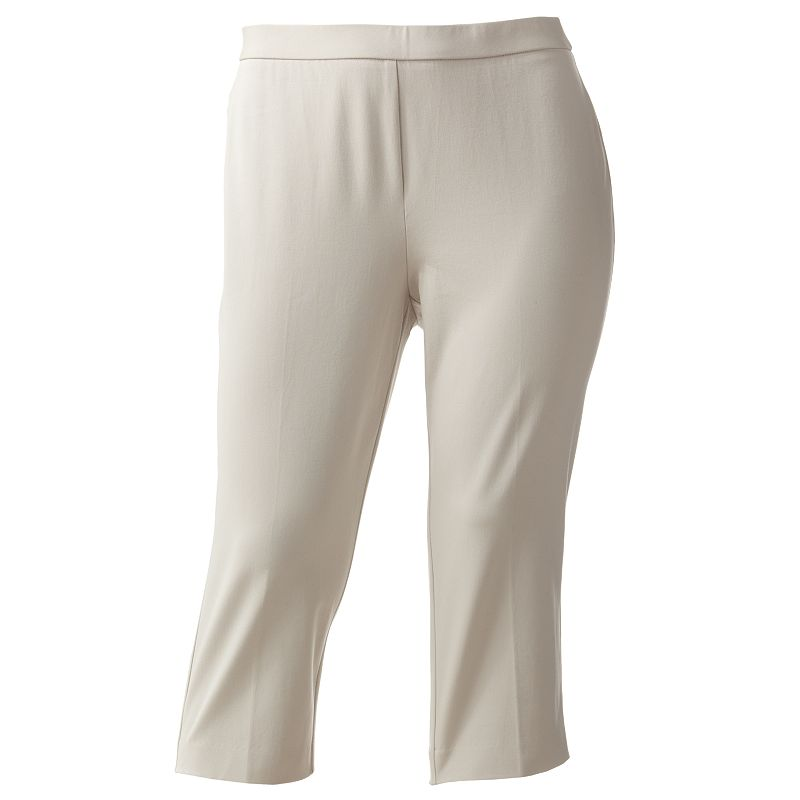 Sag Harbor Solid Capris - Women's Plus