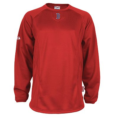 Majestic Boston Red Sox Therma Base Tech Fleece Pullover - Big and Tall