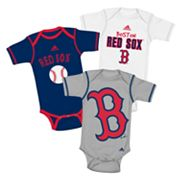 adidas Boston Red Sox 3-pk. Bodysuits - Baby