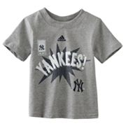 adidas New York Yankees Action Hero Tee - Toddler