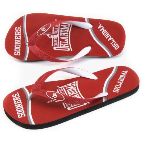 Oklahoma Sooners Zori Flip-Flops - Adult