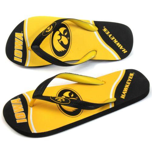 Iowa Hawkeyes Zori Flip-Flops - Adult