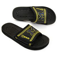 Adult Michigan Wolverines Slide Sandals