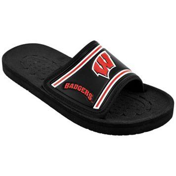 Adult Wisconsin Badgers Slide Sandals