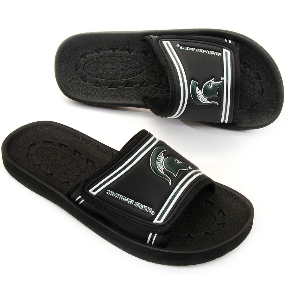 Adult Michigan State Spartans Slide Sandals