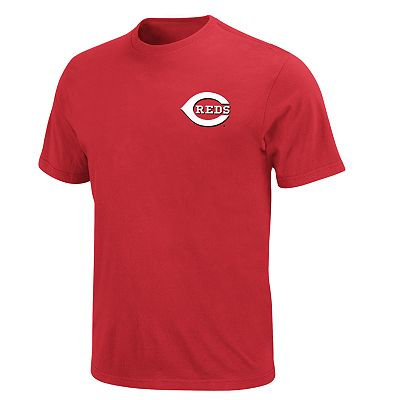 Majestic Cincinnati Reds Official Wordmark Tee - Big and Tall