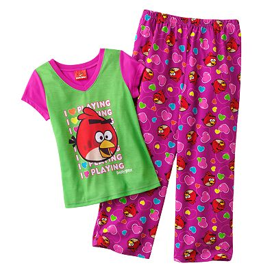 Angry Birds I Love Playing Pajama Set - Girls