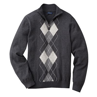 Croft and Barrow Argyle 1/4-Zip Sweater