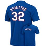 Majestic Texas Rangers Josh Hamilton Tee - Big and Tall