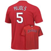 Majestic Los Angeles Angels of Anaheim Albert Pujols Tee - Big and Tall
