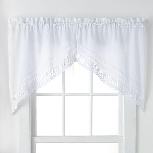 CHF Crochet Swag Tier Kitchen Window Curtain Set