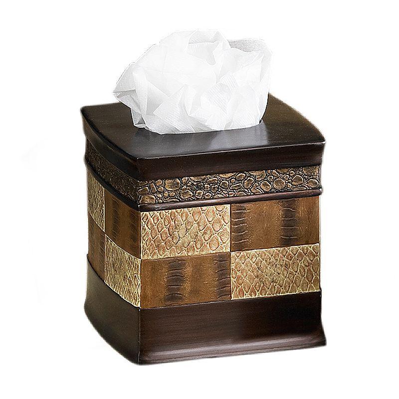 Popular Bath Zambia Tissue Holder, Brown