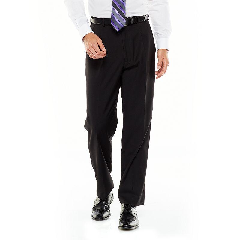 Adolfo Classic-Fit Solid Flat-Front Suit Pants