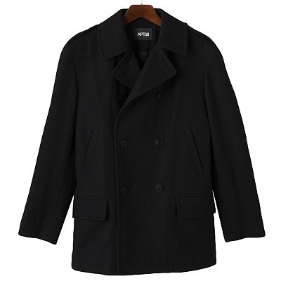 Apt. 9 Double-Breasted Wool Blend Peacoat - Men