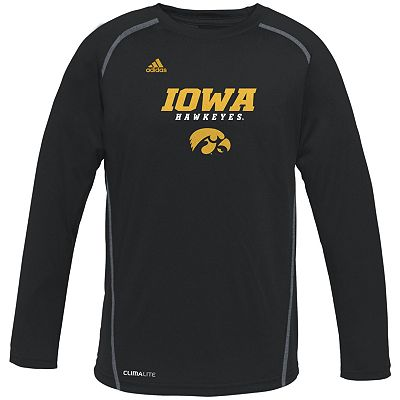 adidas Iowa Hawkeyes Speedwick Performance Tee - Boys 8-20