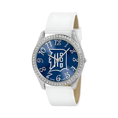 Game Time Glitz Detroit Tigers Silver Tone Crystal Watch - MLB-GLI-DET - Women