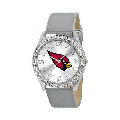 Game Time Glitz Arizona Cardinals Silver Tone Crystal Watch - NFL-GLI-ARI - Women