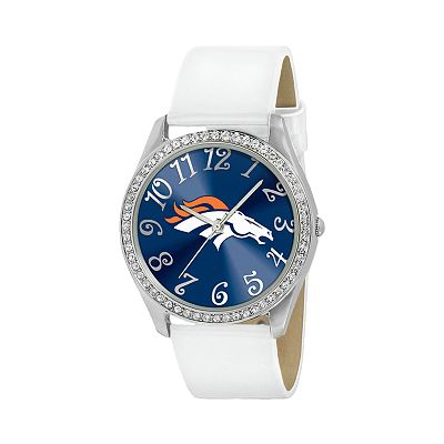 Game Time Glitz Denver Broncos Silver Tone Crystal Watch - NFL-GLI-DEN - Women