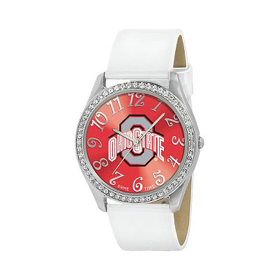 Game Time Glitz Ohio State Buckeyes Silver Tone Crystal Watch - COL-GLI-OSU - Women