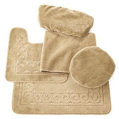Scrolled 5-pc. Bath Mat Set