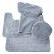 Scrolled 5 pc Bath Mat Set