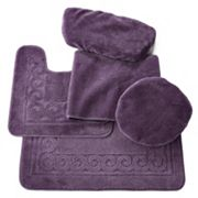 Scrolled 5 pc Bath Mat Set