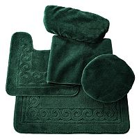 Scrolled 5-pc. Bath Mat Set