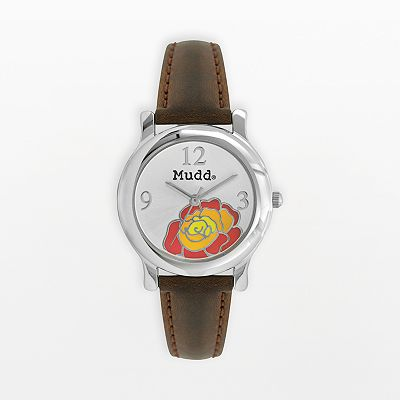 Mudd Silver Tone Flower Watch - Juniors