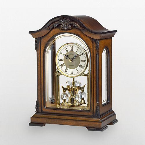 Bulova Durant Wood Mantel Clock B1845