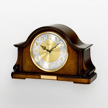 Bulova Chadbourne Wood Chiming Mantel Clock - B1975