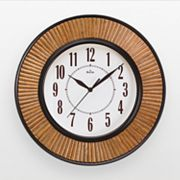 Bulova Hayworth Chocolate Brown Rattan Wall Clock - C4641