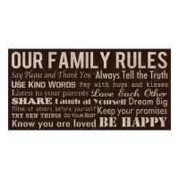 Our Family Rules Wall Decor