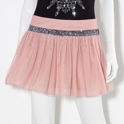 Princess Vera Wang Sequin Flounce Miniskirt - Juniors