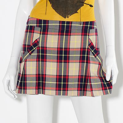 Princess Vera Wang Plaid Pleated Miniskirt - Juniors