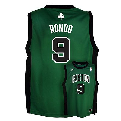 adidas Boston Celtics Rajon Rondo Alternate NBA Jersey -  Boys 8-20