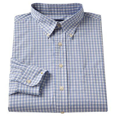 Chaps Classic-Fit Checked Button-Down Collar Dress Shirt