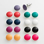 SO Button Stud Earring Set