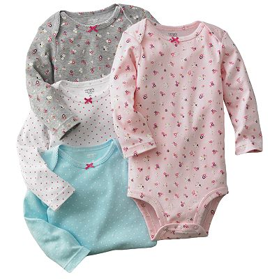 Carter's 4-pk. Floral and Dot Bodysuits - Baby