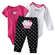 Carter's Cupcake Turn Me Around Bodysuit Set - Baby