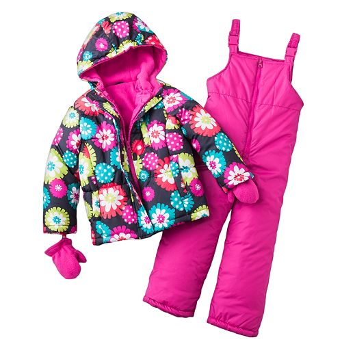 Carter'S Floral Jacket And Snow Bibs Set - Girls 4-6X $ 63.00