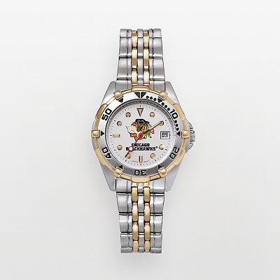 Chicago Blackhawks Stainless Steel Two Tone Watch - BLA104 - Women