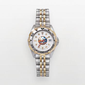 New York Islanders Stainless Steel Two Tone Watch ISL104 Women