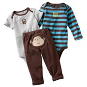 Carter's Monkey Turn Me Around Bodysuit Set - Baby