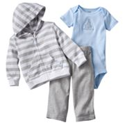 Carter's Striped Hooded Cardigan Set - Baby