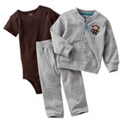 Carter's Monkey Cardigan Set - Baby