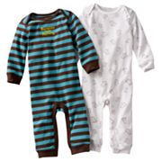 Carter's 2-pk. Striped and Monkey Coveralls - Baby