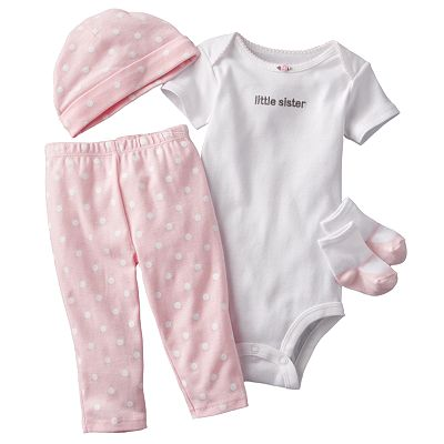 Carter's Little Sister Bodysuit and Dotted Pants Set - Baby