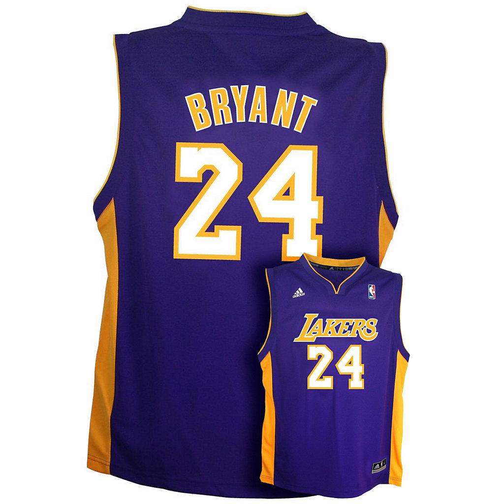 Boys 8-20 adidas Los Angeles Lakers Kobe Bryant Team Color NBA ...