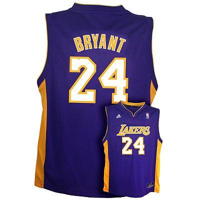 adidas Los Angeles Lakers Kobe Bryant Team Color NBA Jersey -  Boys 8-20
