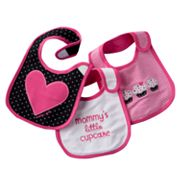 Carter's 3-pk. Dotted, Striped and Solid Teething Bibs